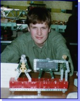Tim at the Kew Bridge Steam Museum 'Magic of Meccano Exhibition', 1998